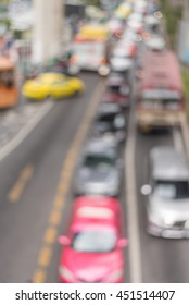 Abstract blur and background of car Traffic in Bangkok