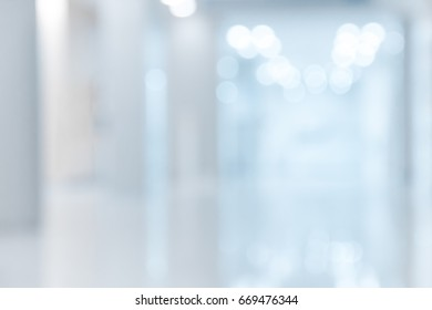 Abstract blur background  luxury  clinic or hospital interior.