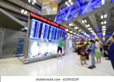 Abstract Blur Background of many passenger in the airport. use for background