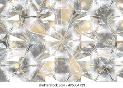 Abstract blur background of pyramid glass.