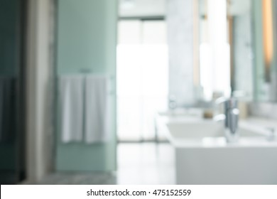 Abstract blur beautiful bathroom and toilet interior for background