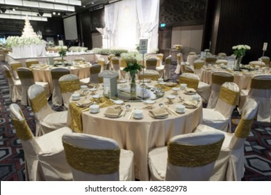 Abstract blur beautiful catering wedding