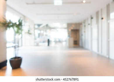 Abstract blur beautiful hotel lobby interior for background
