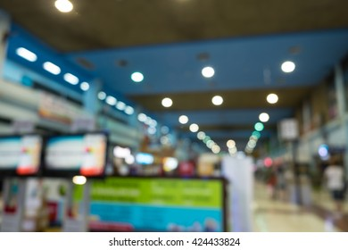 Abstract blur beautiful luxury airport interior for backgounrd