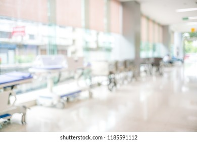 Abstract blur of beautiful luxury hospital and clinic interior for background