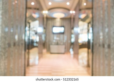 Abstract blur beautiful luxury hotel lobby lounge interior for background