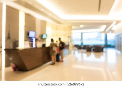 Abstract blur beautiful luxury hotel lobby interior for background