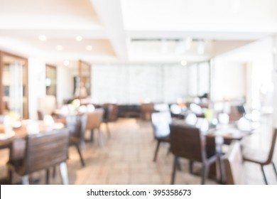 Abstract blur beautiful luxury restaurant interior for background