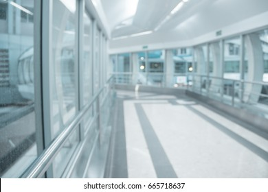 Abstract blur beautiful luxury walkway or corridor of the hospital background