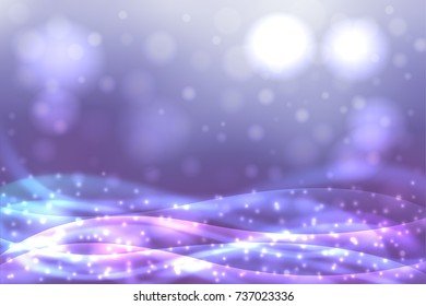 Abstract blur blue colored backgrounds with defocused lights.