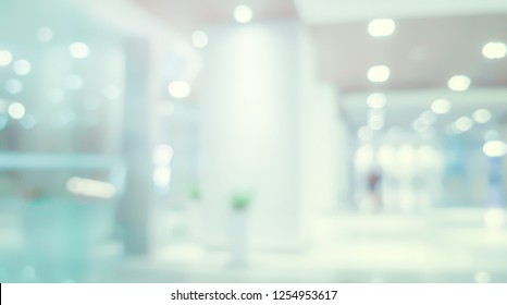 abstract blur blue contemporary office interior blue background concept