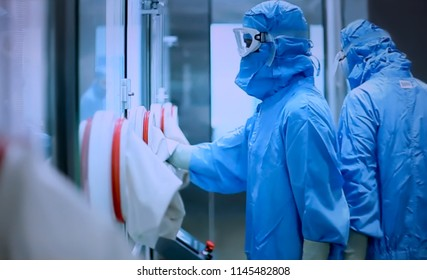 Abstract, blur, bokeh background, defocusing - image for the background.   Medicine, pharmacy, public health and the concept of pharmacy and the manufacture, laboratory science.
