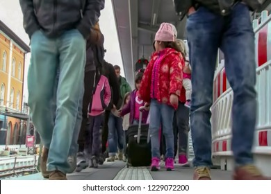 Abstract, blur, bokeh background, defocusing - image for the background. The concept of illegal migration from Mexico to the United States