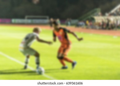 Abstract blur ,bokeh background , image for background ,Soccer concept.
