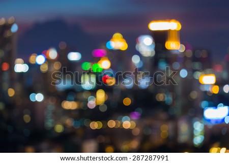 Abstract blur bokeh of