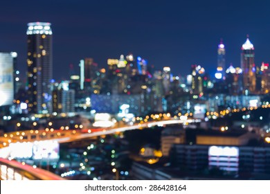 Abstract blur bokeh city night lights