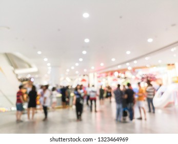 Abstract blur bokeh department store or shopping mall background.