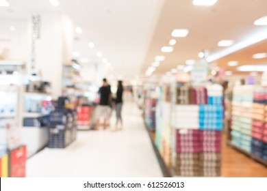 Abstract blur and bokeh department store and shopping mall interior for background