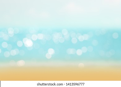 abstract blur or bokeh light on sea background in summer.