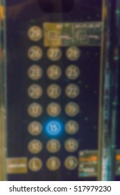 Abstract blur  Button of elevator