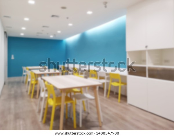 Abstract Blur Canteen Modern Office Interior Royalty Free Stock