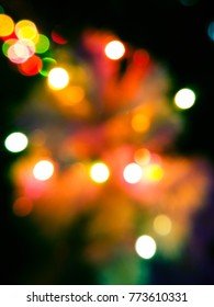 abstract blur christmas lights bokeh for pattern and background
