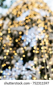 Abstract blur christmas tree background