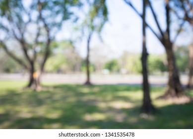 Abstract blur city park bokeh background - green nature and save the earth concept