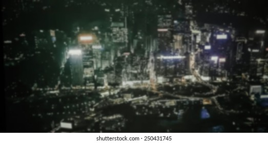 Abstract Blur city scape