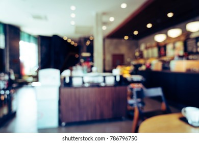 abstract blur in coffee shop for background - vintage effect filter