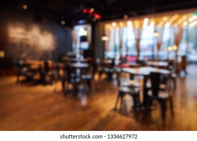 Abstract blur coffee shop cafe interior