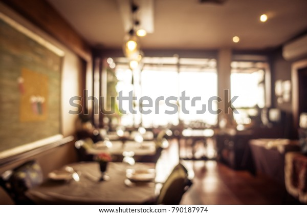 Abstract Blur Coffee Shop Cafe Restaurant Stock Photo Edit Now 790187974