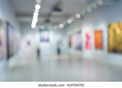 Abstract blur contemporary art center background