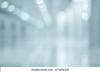 Abstract blur Corridor Structure of Subway station in airport  interior for Background