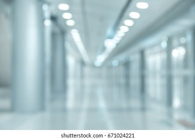 Abstract blur Corridor of the  Subway station interior in  airport for your background design Mood and Tone  beautiful , luxury , modern , innovation or  Technology.