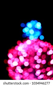 Abstract blur of decorative lighting on festival