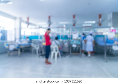 Abstract blur of Defocus Background of Intensive Care Unit Room (ICU ward) or Emergency room in Hospital as Medical and HealthCare Concept