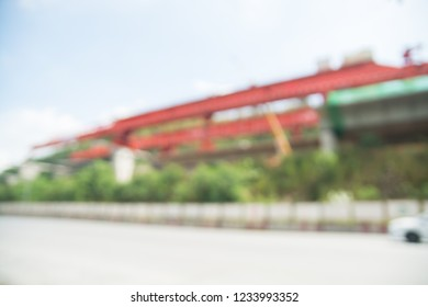 Abstract Blur or Defocus background or Motorway or Highway Construction site
