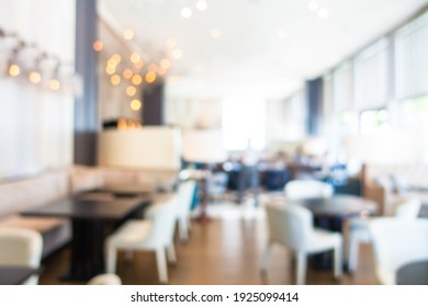 Abstract blur and defocus hotel lobby bar and restaurant interior for background