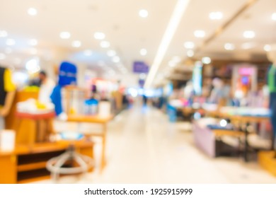 Abstract blur and defocus luxury shopping mall and retail of department store interior for background