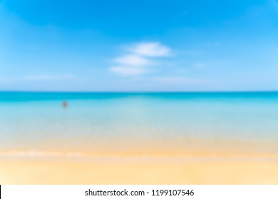 abstract blur and defocus tropical beach and sea in paradise island - Holiday Vacation concept