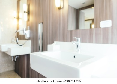 Abstract blur and defocused bathroom and toilet interior for background