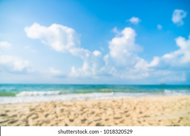 Abstract blur defocused beautiful beach and sea for background