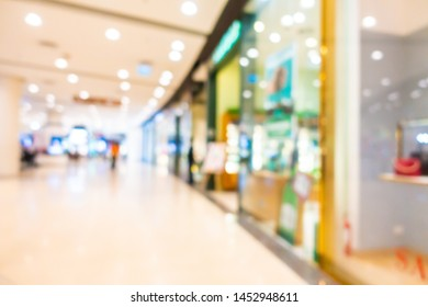 Abstract blur and defocused beautiful luxury department store and shopping mall interior for background