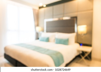 Abstract blur defocused bedroom interior for background
