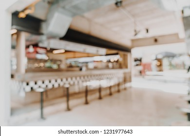 abstract blur and defocused in cafe restaurant for background - vintage filter