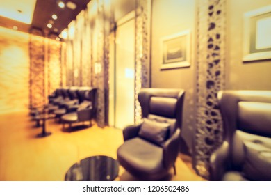 Abstract blur and defocused coffee shop and restaurant interior for background