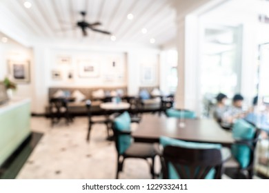 abstract blur and defocused in coffee shop and cafe restaurant for background