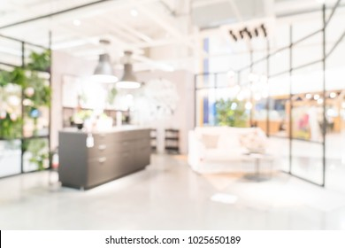 Abstract blur and defocused furniture decoration interior shopping store for background