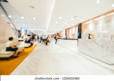 Abstract blur and defocused hotel and lobby interior for background